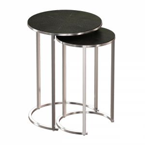 Keya Nesting Accent Tables Stainless Steel