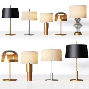 5 Table Lamps Set 1