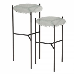 Maylan Clear Glass End Tables Set Of 2