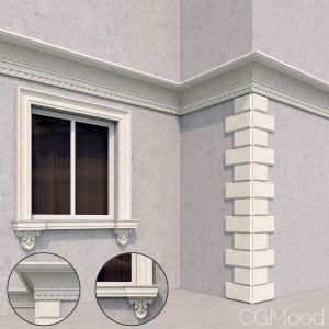 Facade Elements Classic Style 2