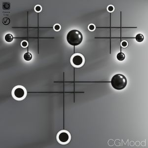Gaia - Modern Suspended Or Wall Led Lamp