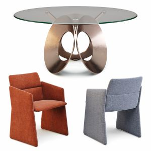 Arketipo Oracle Table And Crassevig Aura Chairs