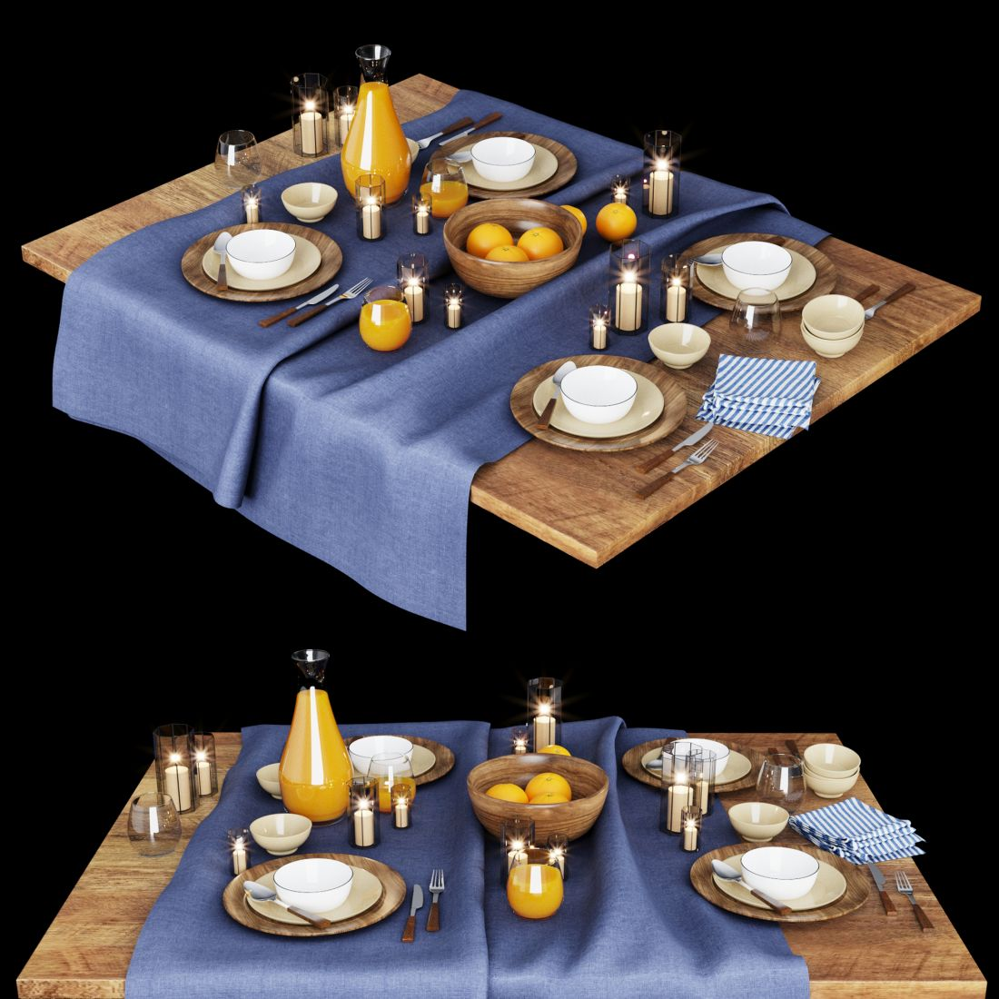 Table Setting01 - 3D Model for VRay, Corona