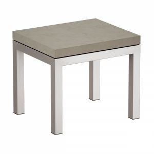 Parsons Concrete Top Stainless Steel Base End Tabl