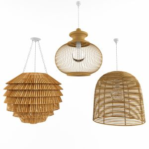 Lamp Rattan Bamboo Outdoor