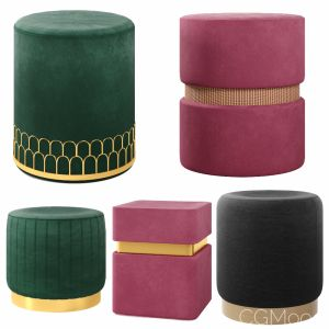 Poufs Vol1- Velvet Poufs (vray Version)