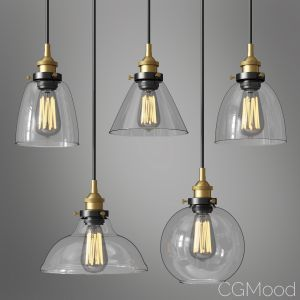 Modern Industrial Brushed Steel Pendant Light Clea