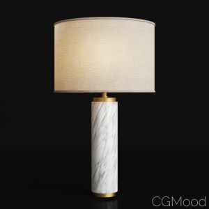 Cylindrical Column Marble Table Lamp