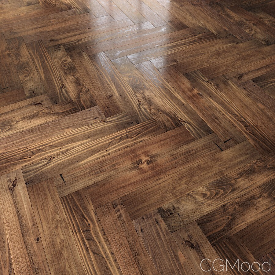 Wooden Floor (worn Out) - 3D Model for FStorm
