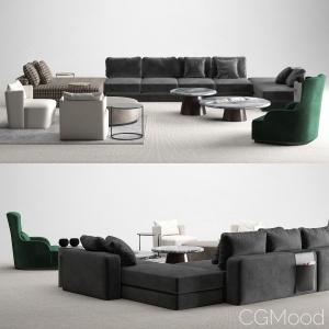 meridiani harold modular sofas set