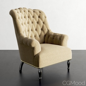 Restoration Hardware Clementine Tufted Chair