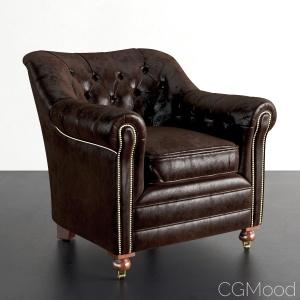 Restoration Hardware Sandringham Leather Chair