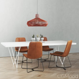 Cb2 Dylan Dining Table Set