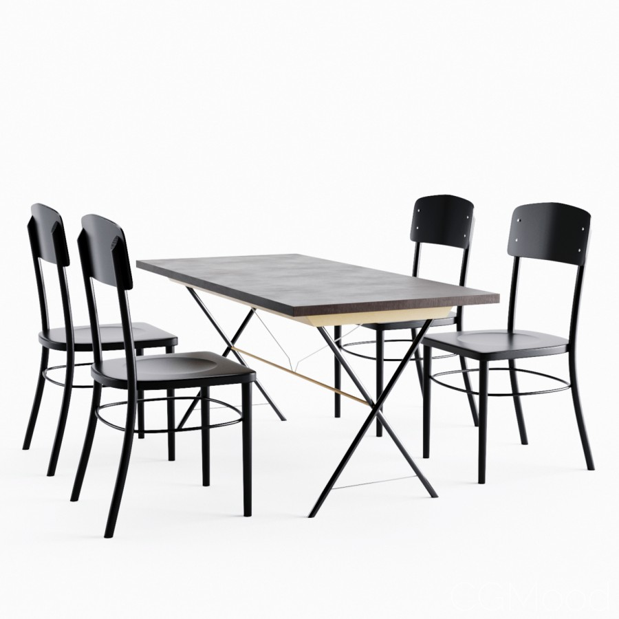 Admirable Ryggestad Idolf Dining Set By Ikea 3D Model For Corona Alphanode Cool Chair Designs And Ideas Alphanodeonline