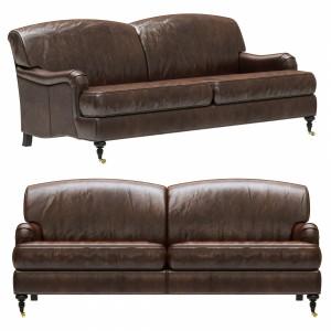 Restoration Hardware Barclay Leather 2-seat Sofa