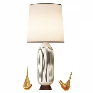 Mid Century Table Lamp Bullet
