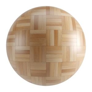 Light Wood Seamless Basket Parquet Material V2