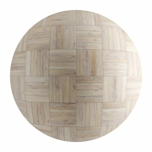 White Wood Seamless Basket Parquet Material V1