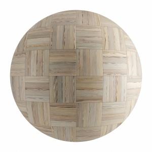Light Wood Seamless Basket Parquet Material V3