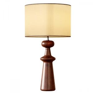 Turned Wood Table Lamp - Tall