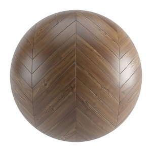Brown Wood Seamless Chevron Parquet Material V1