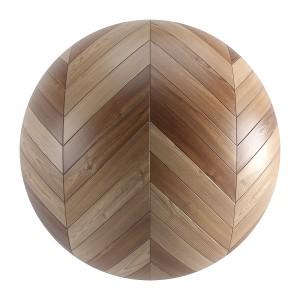 Brown Wood Seamless Chevron Parquet Material V2
