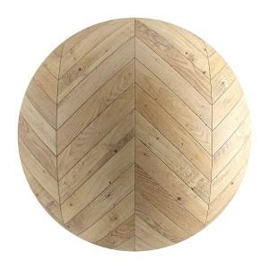 Light Wood Seamless Chevron Parquet Material V1