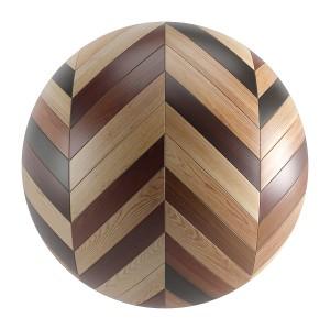 Various Wood Seamless Chevron Parquet Material V1