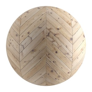 Seamless Light Wood Chevron Parquet Material V2
