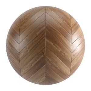 Seamless Brown Wood Chevron Parquet Material V3