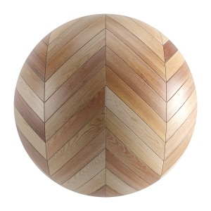 Seamless Brown Wood Chevron Parquet Material V4