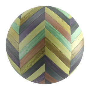 Seamless Colorful Wood Chevron Parquet Material V1