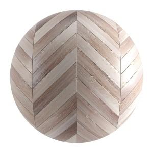 Seamless Light Wood Chevron Parquet Material V3