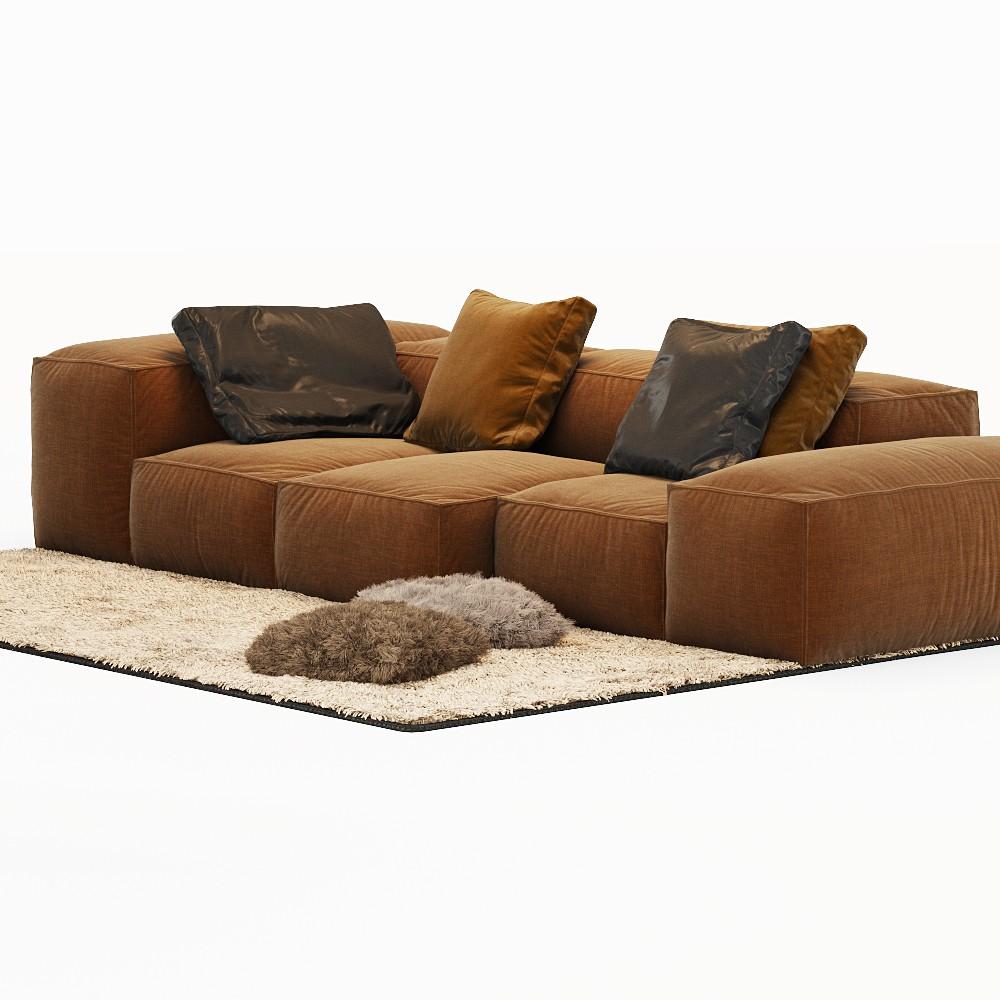 Sofa Extrasoft Living Divani 3d Model For Corona