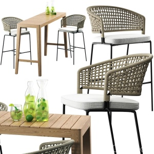 Tribu Ctr Bar Chair Set