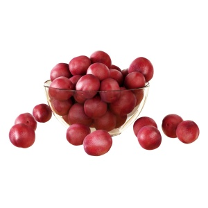 Red Plums In A Vase