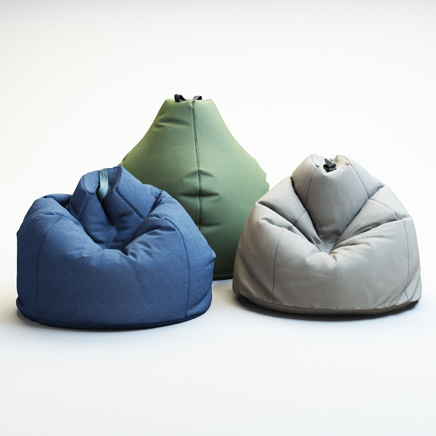 Astonishing Bean Bag Esprit 3D Model For Vray Corona Pabps2019 Chair Design Images Pabps2019Com