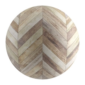 Seamless Old Wood Chevron Parquet Material V3