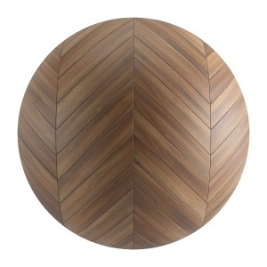 Seamless Brown Wood Chevron Parquet Material V6