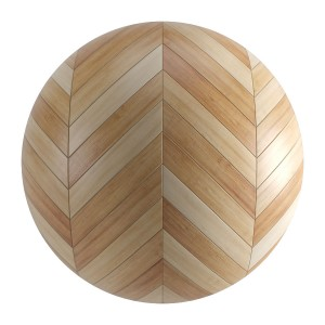 Seamless Light Wood Chevron Parquet Material V7