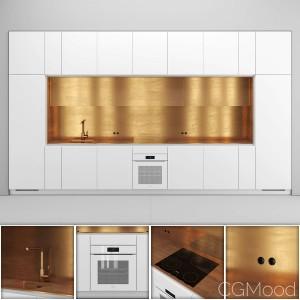 Nel Kitchen With Brass
