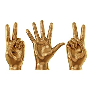 Sculpture Hands Sign