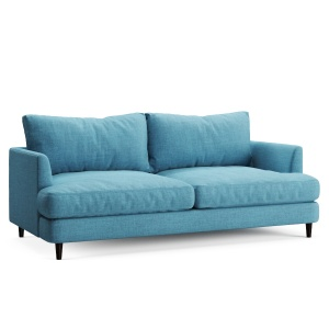 Soft Sofa Fabric Blue