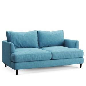 Soft Sofa Fabric Blue 02