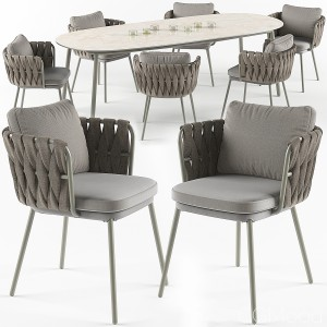 Tosca Table And Armchair Set