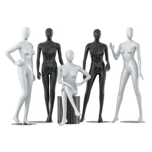 A Collection Of Five Faceless Female Mannequins