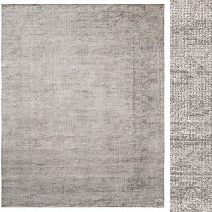 Agra Hand-knotted Silk & Wool Rug