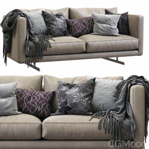 Dee Dee Leather Sofa By Berto