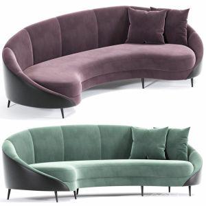 Feet Curved Sofa Beverly