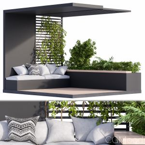 Roof Garden And Balcony Furniture Black Set